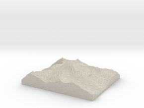 Model of Mount Conness in Natural Sandstone