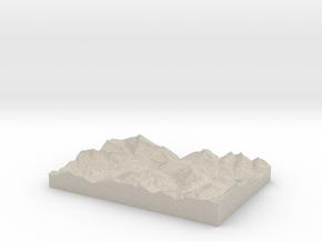 Model of Andermatt in Sandstone