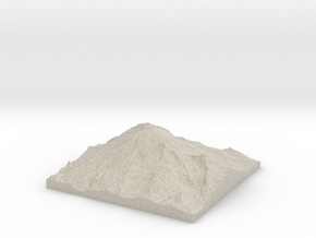 Model of Mount Rainier in Natural Sandstone
