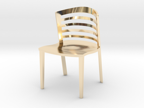 "Lowenstein Chair 3.8"" tall in 14K Yellow Gold"