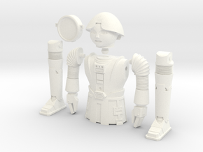"Twiki from Buck Rogers - Mego like (fits with 8"" f in White Strong & Flexible Polished"