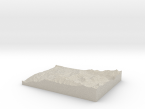 Model of Mountain Village in Natural Sandstone