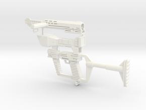 1/6 scale reptilian laser rifle in White Processed Versatile Plastic
