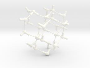 Water Molecule Matrix Model UniColor Plastic Large in White Processed Versatile Plastic