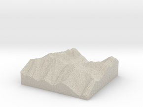Model of Silver Lake in Sandstone