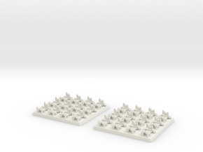 2mm DBA Chariots 40x40mm in White Natural Versatile Plastic