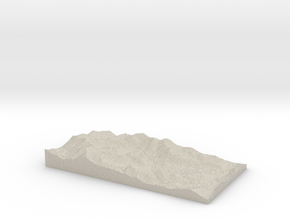 Model of Alpine Meadows in Natural Sandstone