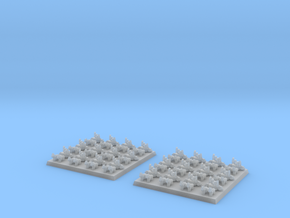 2mm DBA Chariots 40x40mm in Smooth Fine Detail Plastic