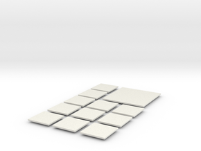 Mesh Tile Expansion Pack in White Natural Versatile Plastic