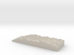 Model of Turramurra Lodge Condominiums in Natural Sandstone