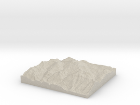 Model of Schlatenkees in Natural Sandstone