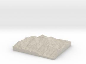 Model of Schlatenkees in Sandstone