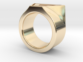 Dr Evil Ring Size 11 in 14K Yellow Gold
