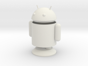 Small Android Model 6cm x 4cm x 7.5cm in White Natural Versatile Plastic