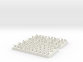 2mm DBA Auxilia 40x20mm in White Natural Versatile Plastic