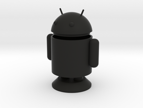 Small Android Model 6cm x 4cm x 7.5cm in Black Strong & Flexible