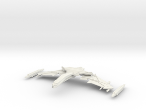 Valcor Class Battleship Parts in White Strong & Flexible