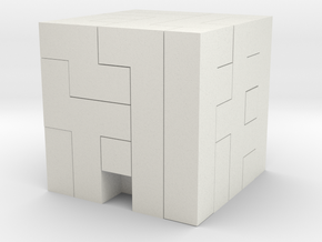 Puzzle Block Jj1 in White Strong & Flexible