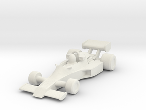 Lotus 77 HO scale in White Natural Versatile Plastic