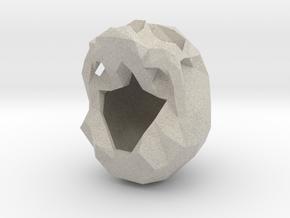 Skull Pendant Large  in Natural Sandstone