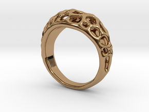 Bubble Ring No.1 in Polished Brass