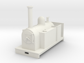 Gn15 side tank loco open cab in White Strong & Flexible