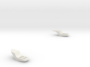 Foot-steps in White Natural Versatile Plastic