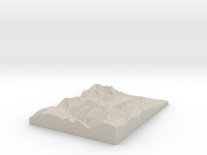 Model of Siviez in Natural Sandstone