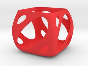 Retro Candle Cup in Red Processed Versatile Plastic