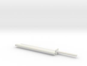 Katana 1:6 scale in White Natural Versatile Plastic
