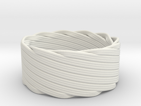 Single Stranded Matthew Walker Knot Napkin Ring in White Natural Versatile Plastic