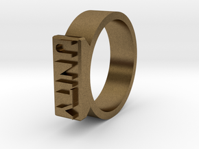 Unity Ring Size 11  in Natural Bronze