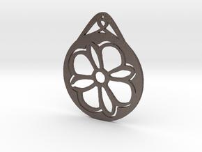 Hanging Ornament ~ Medieval Tile Design  in Polished Bronzed Silver Steel