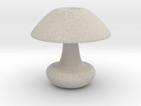Mushroom Vase in Natural Sandstone