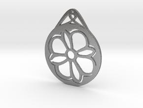 Hanging Ornament ~ Medieval Tile Design  in Natural Silver