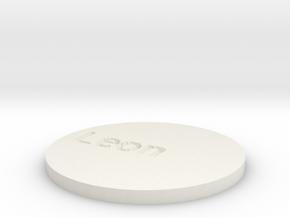 by kelecrea, engraved: Leon in White Natural Versatile Plastic