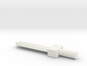 Sword 02 in White Natural Versatile Plastic