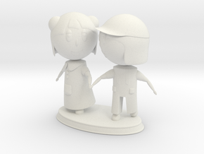 Kids Statue in White Natural Versatile Plastic