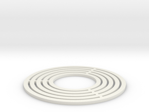 Brass Ring Flat in White Natural Versatile Plastic