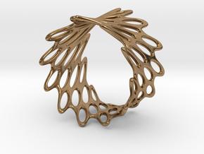 Net Bracelet in Natural Brass