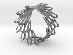 Net Bracelet in Raw Silver