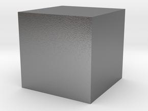 1x1x1 Cube in Raw Silver