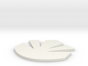 Maquis Logo One Inch in White Strong & Flexible