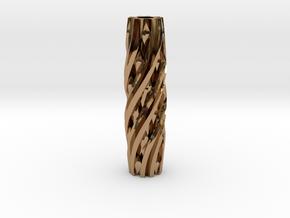 Razor Handle (Twisted Diamonds) in Polished Brass
