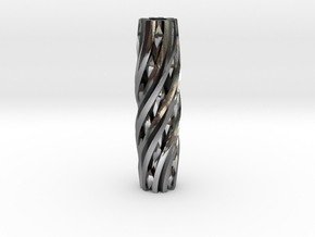 Razor Handle (Twisted Diamonds) in Polished Silver