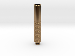 Long Drip Tip in Natural Brass