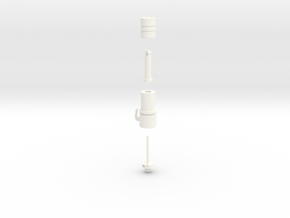 Pile Driver in White Processed Versatile Plastic