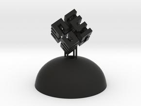Mini Light Form - Hilbert Cube in Black Strong & Flexible