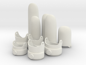 Electric Glove Fingers Set - Test in White Natural Versatile Plastic