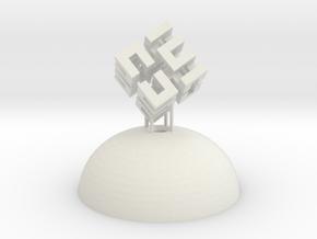 Mini Light Form - Hilbert Cube in White Natural Versatile Plastic